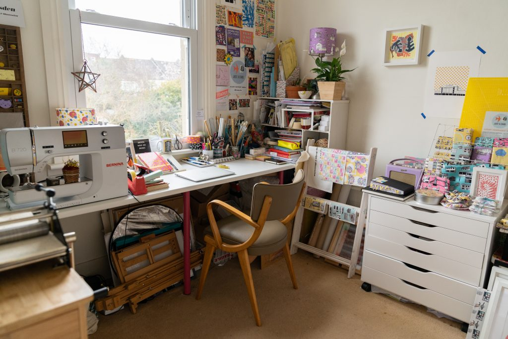 cute studio space at home for creatives