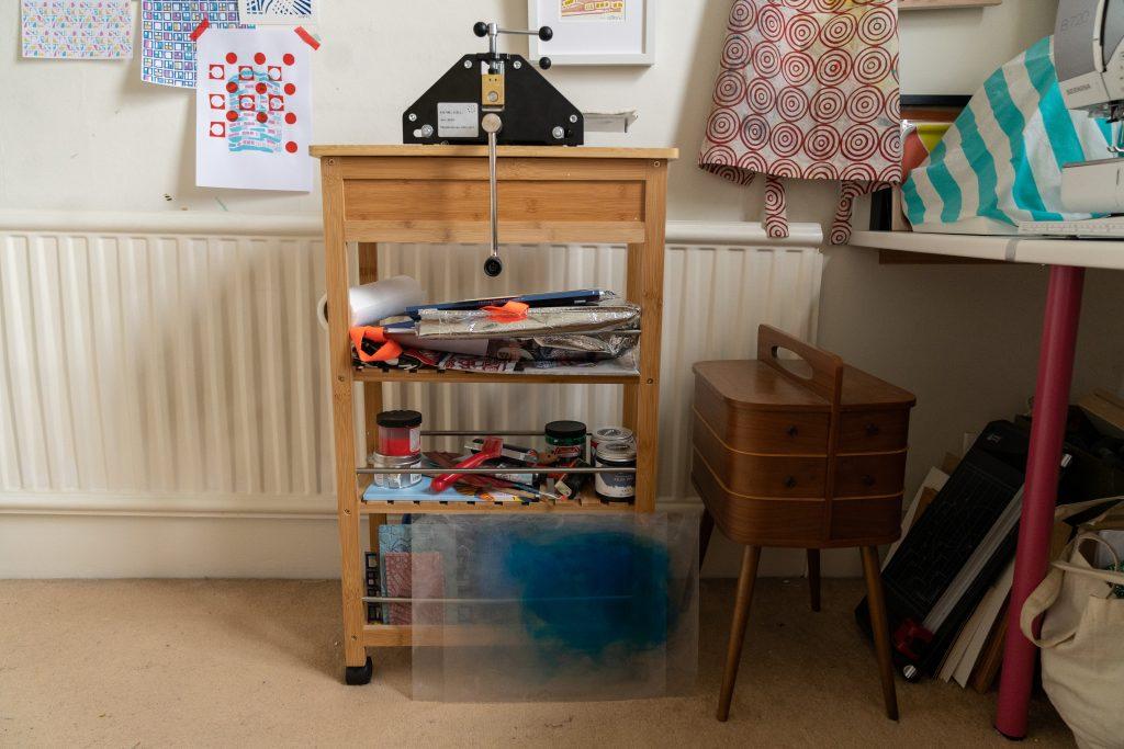 print press in home studio