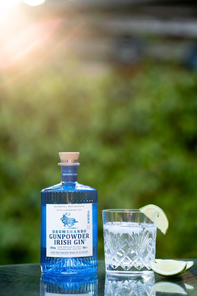 Gunpowder Irish Gin product photography
