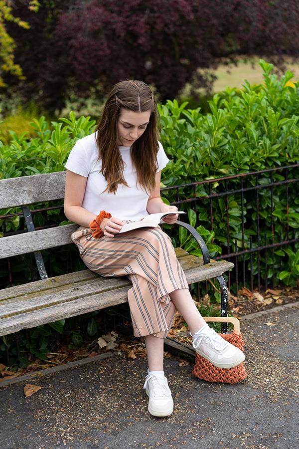 woman enjoying the Horniman Museum Gardens