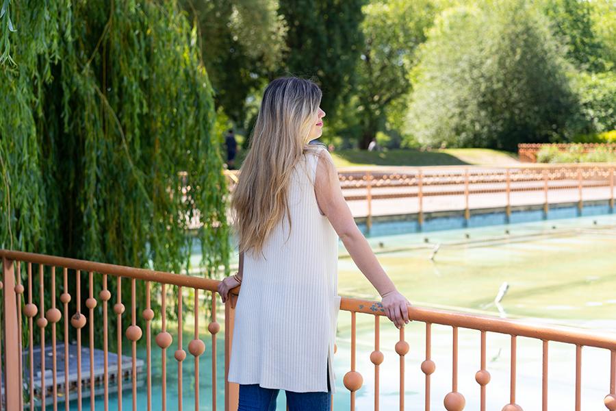 woman enjoying the view at Battersea Park