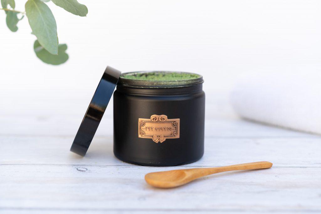 lifestyle product photography of botanical skincare brand